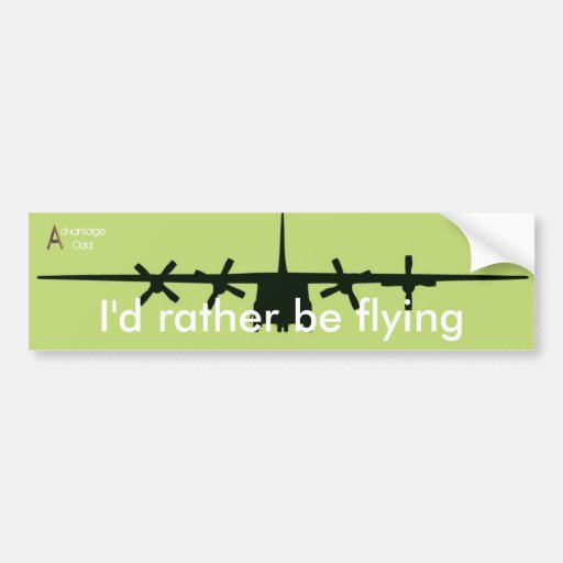 I'd rather be flying bumper stickers