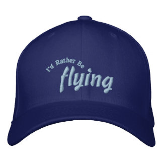 I'd Rather Be Flying Pilot Hat Baseball Cap