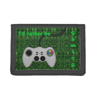 I'd Rather Be Gaming - Code and Game Controller Trifold Wallet