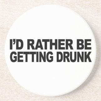 I'd Rather Be Getting Drunk Drink Coaster