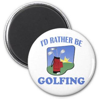 I'd Rather Be Golfing 6 Cm Round Magnet