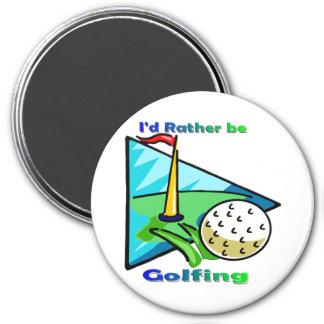 I'd Rather Be Golfing 7.5 Cm Round Magnet