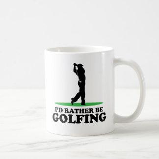 I'd Rather Be Golfing Basic White Mug