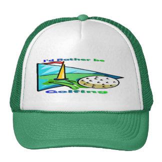 I'd Rather Be Golfing Mesh Hats