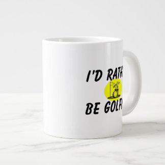 I'd rather be golfing jumbo mug