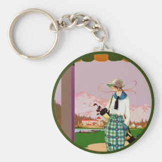 I'd Rather Be Golfing Key Ring