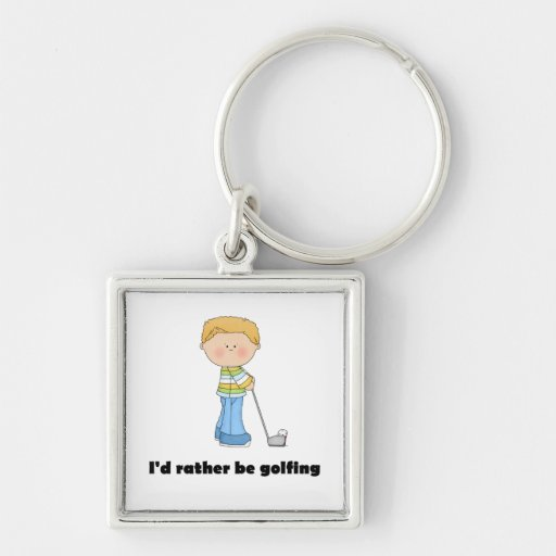 I'd rather be golfing key chain