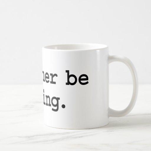 i'd rather be golfing. mug