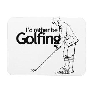 I'd rather be golfing rectangular magnets