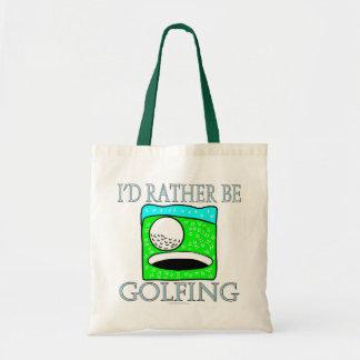I'd rather be golfing (tote bag)
