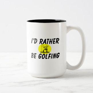 I'd rather be golfing Two-Tone mug