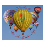I'd Rather Be Hot Air Ballooning Poster