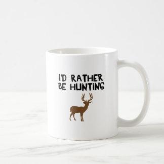 id rather be hunting coffee mug