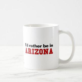 I'd Rather Be In Arizona Basic White Mug