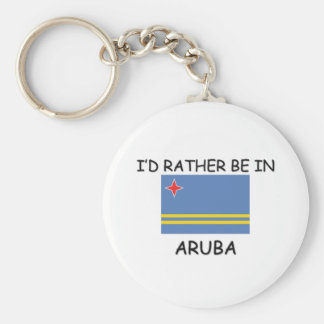 I'd rather be in Aruba Key Ring