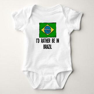I'd Rather Be In Brazil Baby Bodysuit