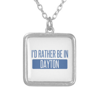 I'd rather be in Dayton Silver Plated Necklace