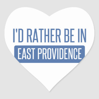 I'd rather be in East Providence Heart Sticker