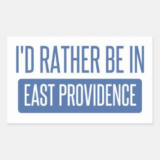 I'd rather be in East Providence Rectangular Sticker