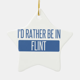 I'd rather be in Flint Ceramic Star Decoration