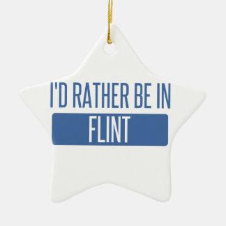 I'd rather be in Flint Ceramic Star Decoration