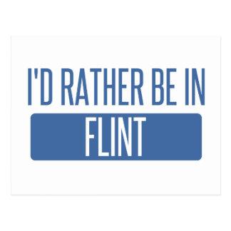 I'd rather be in Flint Postcard