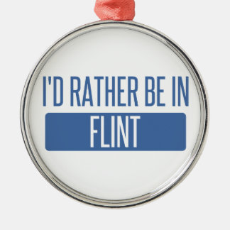 I'd rather be in Flint Silver-Colored Round Decoration
