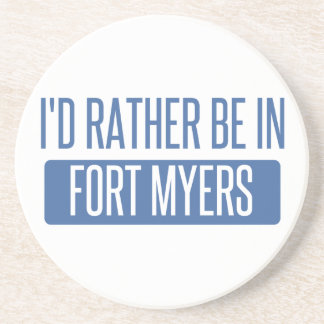 I'd rather be in Fort Myers Beverage Coasters