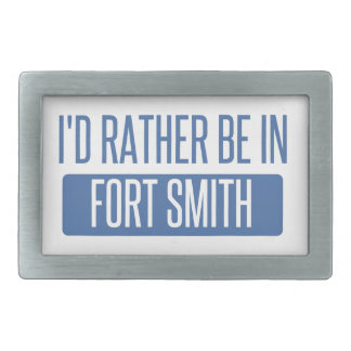 I'd rather be in Fort Smith Rectangular Belt Buckles