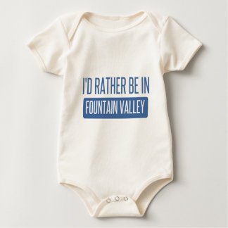 I'd rather be in Fountain Valley Baby Bodysuit