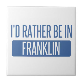 I'd rather be in Franklin WI Small Square Tile