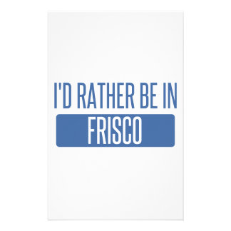 I'd rather be in Frisco Stationery