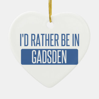 I'd rather be in Gadsden Ceramic Heart Decoration