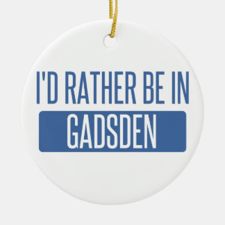 I'd rather be in Gadsden Round Ceramic Decoration