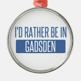 I'd rather be in Gadsden Silver-Colored Round Decoration