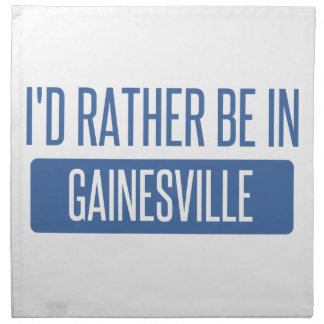 I'd rather be in Gainesville GA Napkin