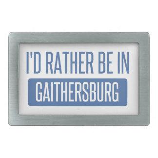 I'd rather be in Gaithersburg Rectangular Belt Buckles