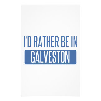I'd rather be in Galveston Stationery