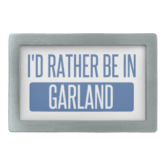 I'd rather be in Garland Belt Buckle