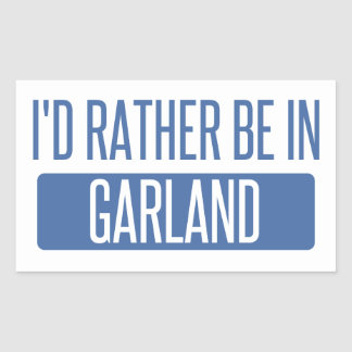 I'd rather be in Garland Rectangular Sticker