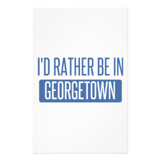 I'd rather be in Georgetown Stationery