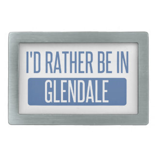 I'd rather be in Glendale CA Rectangular Belt Buckle