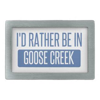 I'd rather be in Goose Creek Rectangular Belt Buckles