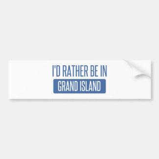 I'd rather be in Grand Island Bumper Sticker