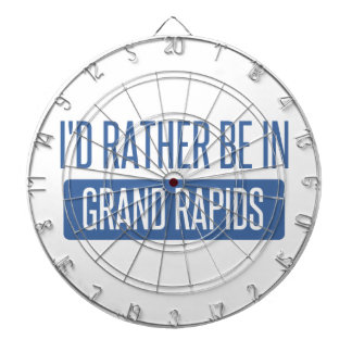 I'd rather be in Grand Rapids Dartboard
