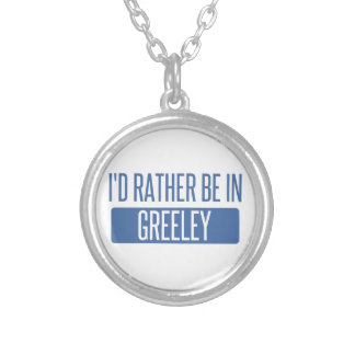 I'd rather be in Greeley Silver Plated Necklace