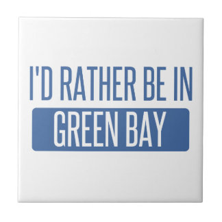 I'd rather be in Green Bay Small Square Tile