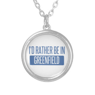 I'd rather be in Greenfield Silver Plated Necklace