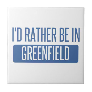 I'd rather be in Greenfield Small Square Tile