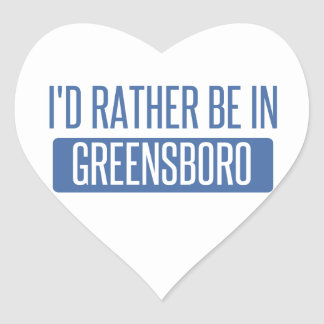 I'd rather be in Greensboro Heart Sticker